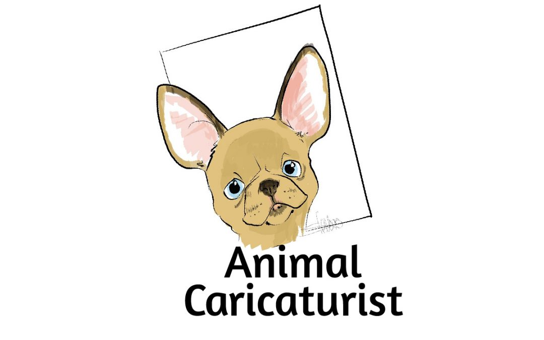 Caricaturist drawing of a dog